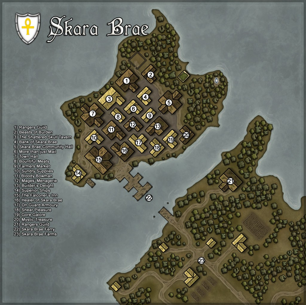 Map of Skara Brae on Chesapeake in March of 2012.