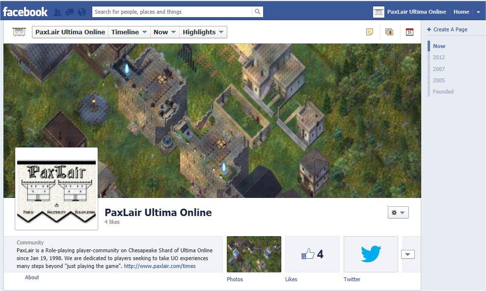 PaxLair on Facebook